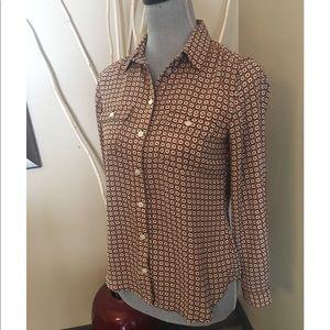 Loft long sleeve button down blouse size XSP